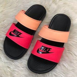 Nike Two Strap Sandals Slides Size 8